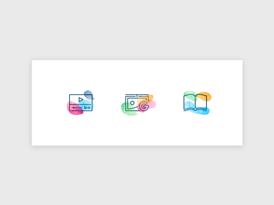 Icons WIP website outline colourful ui web icon wip