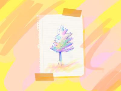 Concept Exploration sketches colours art concept flower botanics plants tree color