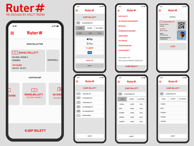 Ruter redesign redesign app design application payment norway minimalist ticket app travel ticket booking ticketing ticket figma ux app ui logo illustration icon flat design
