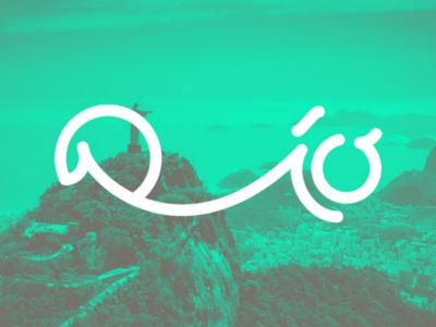 Rio visual identity branding green brasil riodejaneiro lettering logotype logo