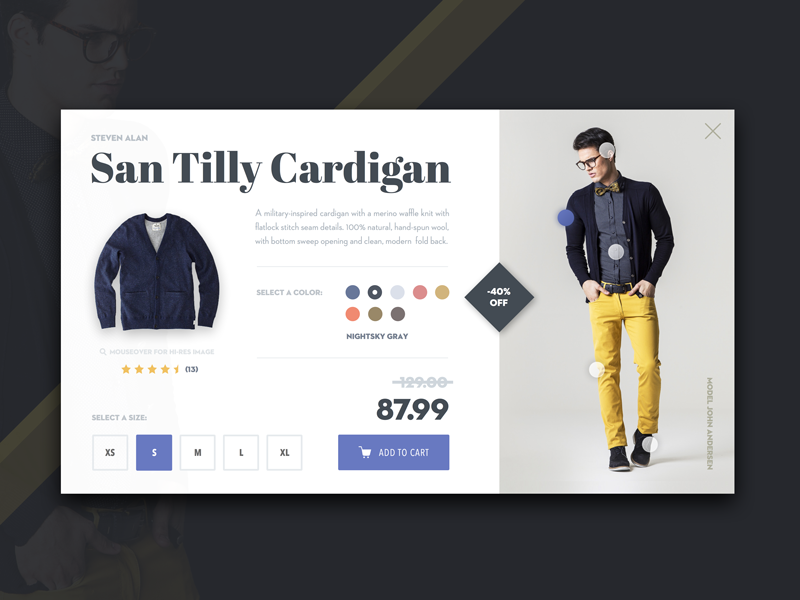 Clothing Look Book web designer design color fashion ui e-commerce lookbook clothing