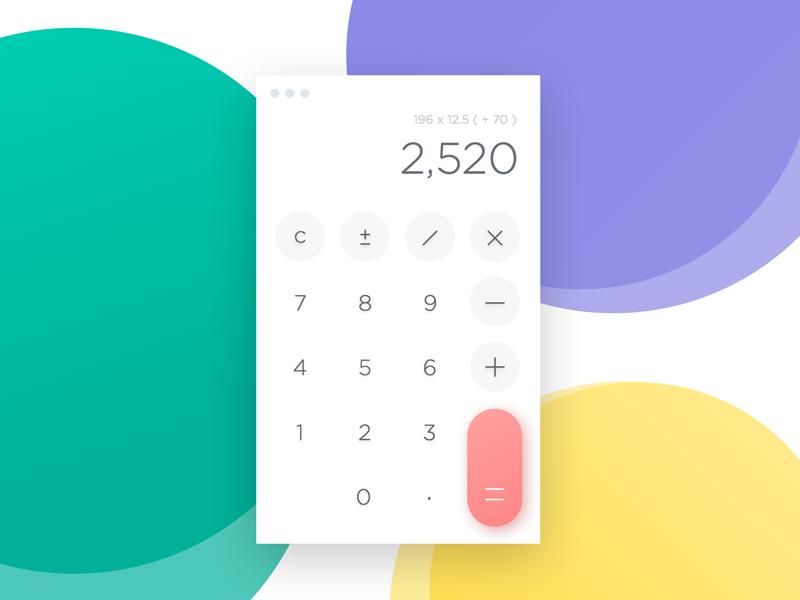 Day 004 - Calculator - Daily UI minimal add number ux daily ui ui flat calculator
