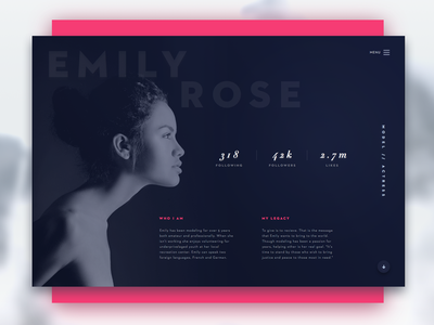 Day 006 - User Profile - Daily UI ui minimal gradient diffuse profile app daily ui