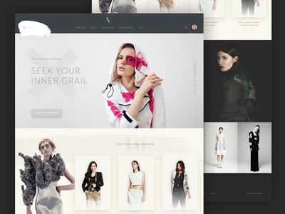 Genevieve Fashion photography lookbook style shop ecommerce web paint ui fashion