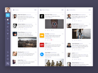 Tweetdeck Redesign glow media social feed video icon ui twitter tweetdeck