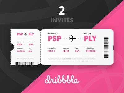 Dribbble Invite competition 2 plane ticket prospect player dribbble invite