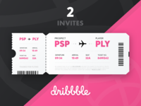 Dribbble Invite competition 2 plane ticket prospect player dribbble invite