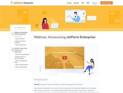 Multiple Webinar Page