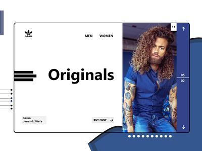 Original's (Adidas) uxdesign photoshop web design website design webdesign app design adidas originals ui design uiux ui