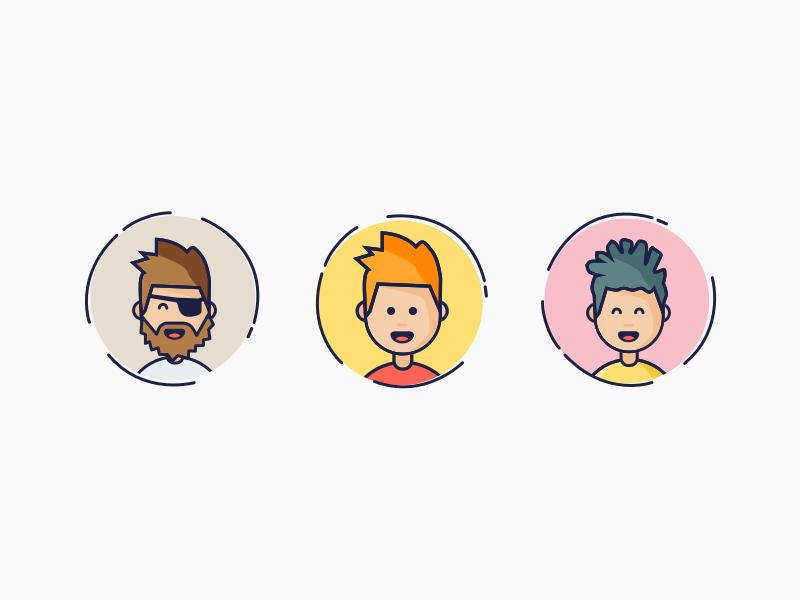 Avatars design debut cartoon character profile illustration fun avatars