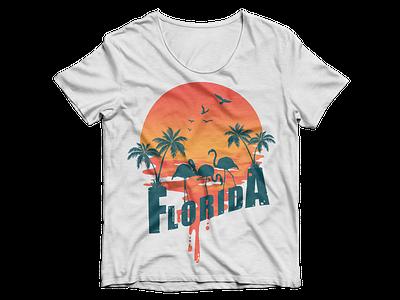 Florida Beach T shirt graphic design design t-shirt design sunset summer t-shirt beach florida