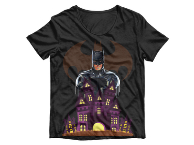 Batman Is Here graphic design design t-shirt design t-shirt superheroes superman dc superhero batman