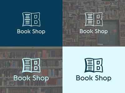 Book Shop Logo app illustrator icon typography design illustration flat branding minimal logo