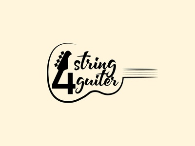4 String Guiter Shop Logo