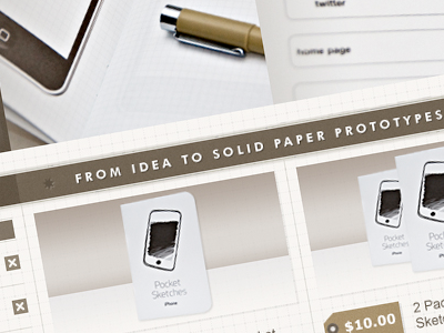 Pocket Sketches photoshop comps ux ecommerce iphone