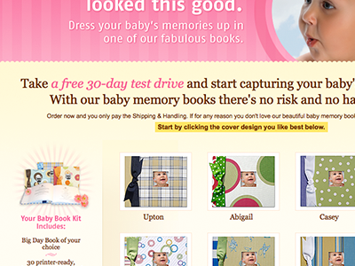 Mommy Friendly photoshop comps ecommerce