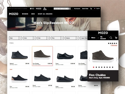 Shoes for Crews filters grid product ecommerce e-commerce footwear shoes