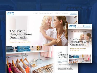 Organized Living clothing home organization closets