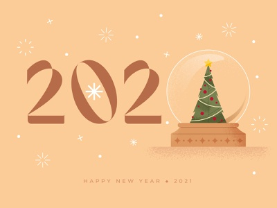 New Year 2021 new year party christmas party snow globe celebration celebrate party new year christmas illustration christmas tree christmas minimal 2021 calendar 2021 cute funny illustration flat art vector design
