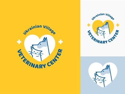 Logo for Veterinary Clinic funny cute cute animal friendly veterinary ukrainian dog logo dog cat pets vivid branding logo vector design