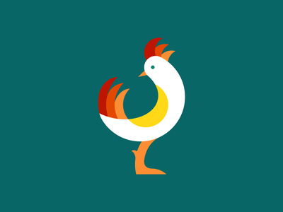 Rooster egg nature mark 2d morning omlet farm logotype chicken egg rooster bird illustration vector branding minimal logo icon graphic flat design