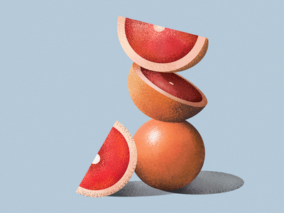 Grapefruit flat nature illustration 2d vector graphic design juice orange lemon citrus fruit grapefruit