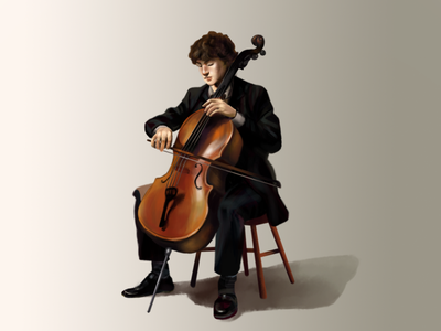 Bach cello suite perfomance happy love classical misuc classic orchestra cello suite men boy sound cello play bach music branding design graphic illustration ill graphic design