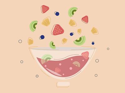 Fruit yogurt food fruit illustration