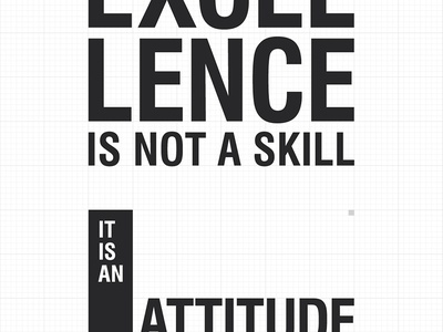 █  Freebie Poster / Excellence is not a skill typography poster excellence freebie
