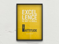 █  Freebie Poster / Excellence is not a skill