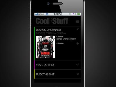 App concept draft - Detail