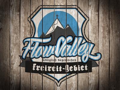 Flow Valley Logo Wood