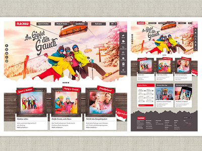 Flachau ski resort website