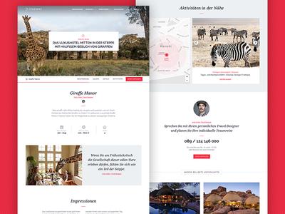 Fineway Accomodation page traveling travel grid journal minimal storytelling website