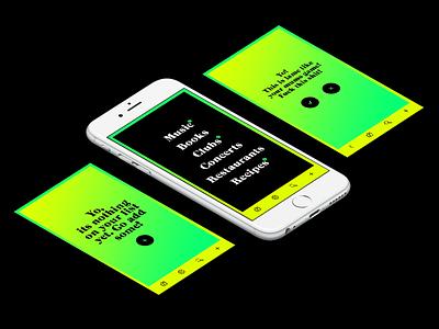 Rock It List App  mobile bright gradients ux design app