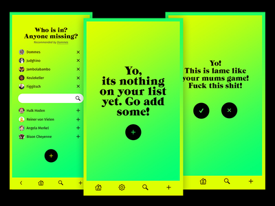 Rock It List App Dialogue mobile bright gradients ux design app