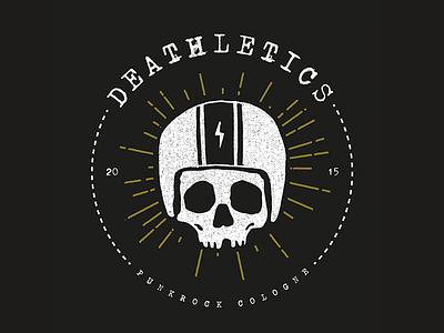 Deathletics Punkrock Cologne - logo illustration punkrock punk logo skull death