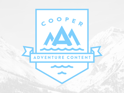 Draft - CAC typography outline crest mountains logo adventure