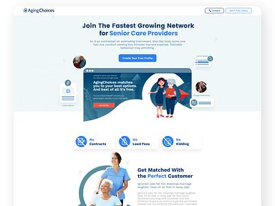 Care Provider Web Page design