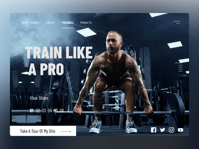 Trainer Web Concept ui design