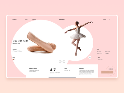 Fashion Landing Page typography ux branding ui design