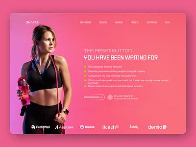 Personal Trainer Webdesign ui design