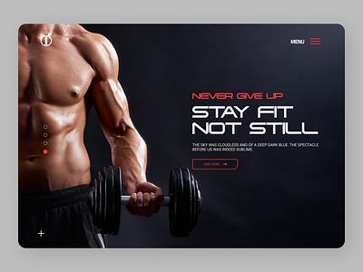Physical Trainer Web Concept ui design