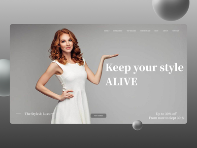 Fashion Web Concept ux branding ui design