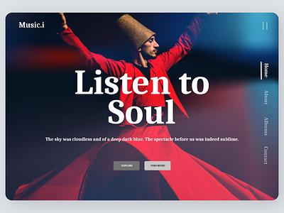 Music Landing Page Concept music ui design
