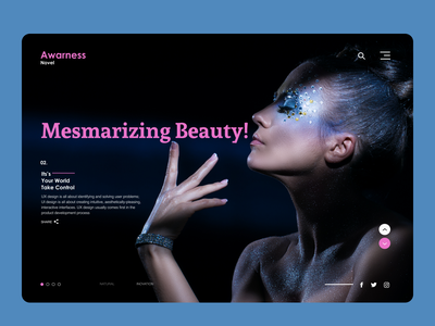 Beauty Products Web logo branding ui design
