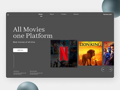 Movie Landing Page ui design