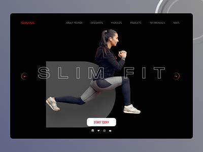 Fitness Landing Page ui design
