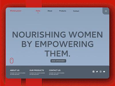 Women Power Web Design ui design