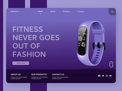 Fitness Band Web Design branding ui design